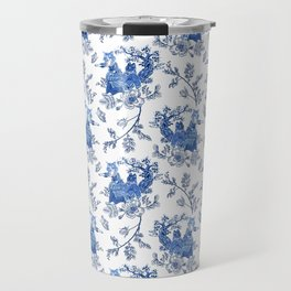 Kittyland Toile Travel Mug