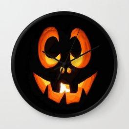 Vector Image of Friendly Halloween Pumpkin  Wall Clock