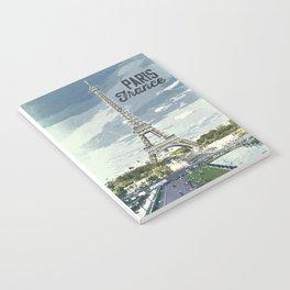 Paris, France / Vintage style poster Notebook