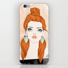 Red-haired girl iPhone & iPod Skin