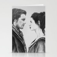 outlander Stationery Cards featuring Jamie and Claire ~ Outlander by Helenfaerieart