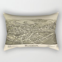 Aerial View of Dunbar, Pennsylvania (1900) Rectangular Pillow