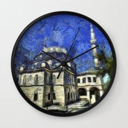 Istanbul Mosque Van Gogh Wall Clock