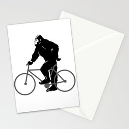 Bigfoot  riding bicycle Stationery Cards