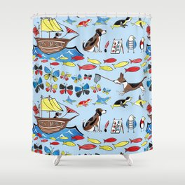 The Voyage of the Beagle Shower Curtain