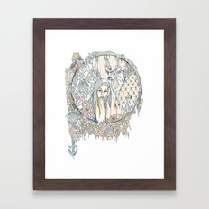 forest & branches Framed Art Print