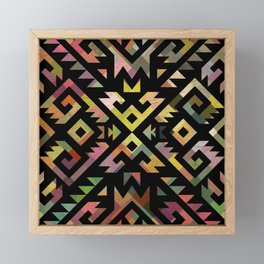 Aztec pattern tribal Framed Mini Art Print