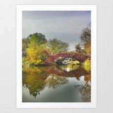Fall at Central Park 2 Art Print
