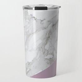 Baesic Purple Marble Travel Mug