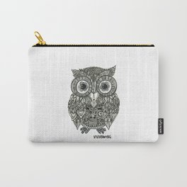 Zentangle Owl Fineliner Pen Drawing Carry-All Pouch