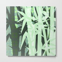 Zen Boho Den Contemporary Bamboo Forest Metal Print