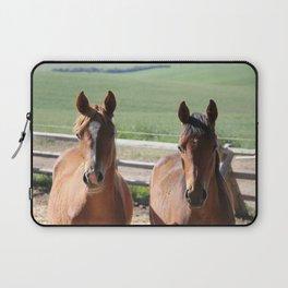 Horse Friends Photography Print Laptop Sleeve