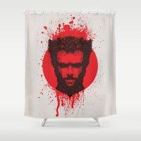 xmen Shower Curtains featuring Logan by Fimbis