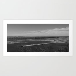 Barge Through The Mississip Art Print