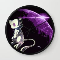 mew Wall Clocks featuring Mew  by Cat Milchard