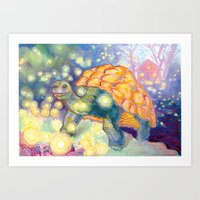 tortoise Art Prints featuring Tortoise by Gregery Miller