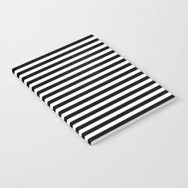 Stripe Black & White Vertical Notebook