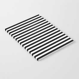 Stripe Black & White Vertical Notebook
