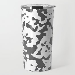 Spots - White and Dark Gray Travel Mug