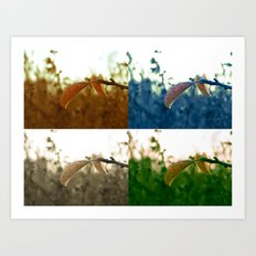 Varations of Leaves Art Print