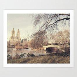 Bow Bridge Art Print