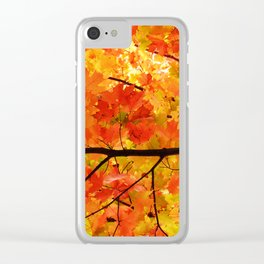 Sugar Maple Leaves in the Fall Light Clear iPhone Case