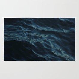 Deep blue waves Rug