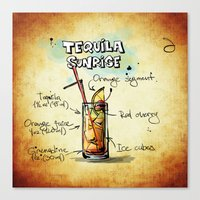 tequila Canvas Prints featuring Tequila Sunrise by jamfoto