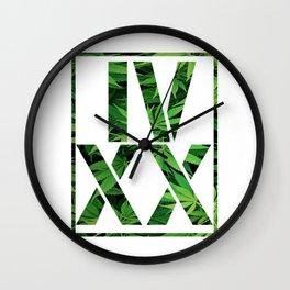 IV XX Wall Clock