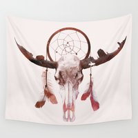 desert Wall Tapestries featuring Deadly desert by Robert Farkas