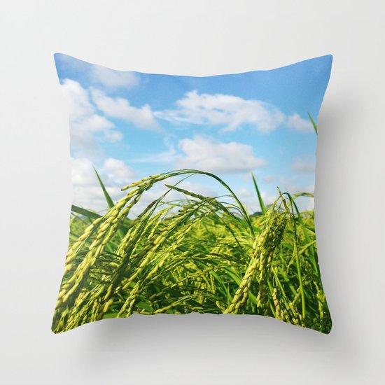 Ripe Rice Throw Pillow