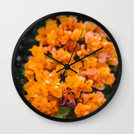 California Blooms III Wall Clock