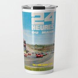 1965 Le Mans poster, Race poster, car poster, garage poster Travel Mug