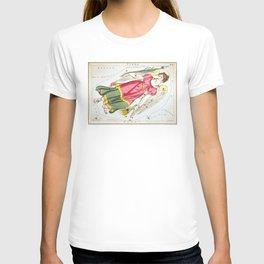 Vintage Virgo Constellation Map (1825) T-shirt