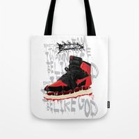 verse Tote Bags featuring SOLE Search verse 1 by martymar54