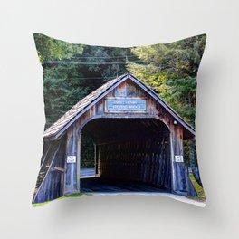 Will Henry Stevens Covered Bridge Throw Pillow