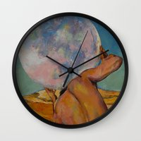atlas Wall Clocks featuring Atlas by Michael Creese