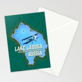Lake Ladoga Russian map Stationery Cards