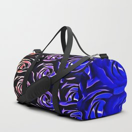 rose pattern texture abstract background in blue and red Duffle Bag