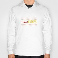 katniss Hoodies featuring Team Katniss by beinggeekchic