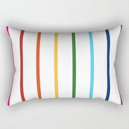 thin lines rainbow Rectangular Pillow