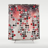 asian Shower Curtains featuring Asian Lake by Eva Nev