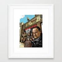 sopranos Framed Art Prints featuring The Sopranos by ZIMZONOWICZ