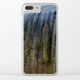 Rushing Waterfall Clear iPhone Case