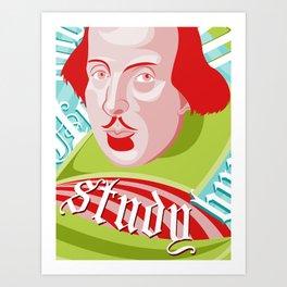 Shakespeare Says Study Art Print