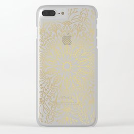 Gold Mandala Clear iPhone Case