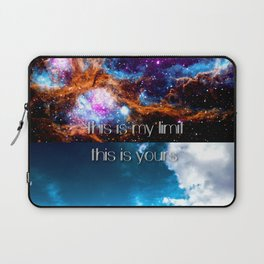 This is my limit this is yours Laptop Sleeve