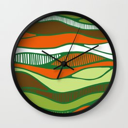 Bird's view- vue d'oiseau Wall Clock