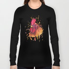 Red rooster portrait Long Sleeve T-shirt