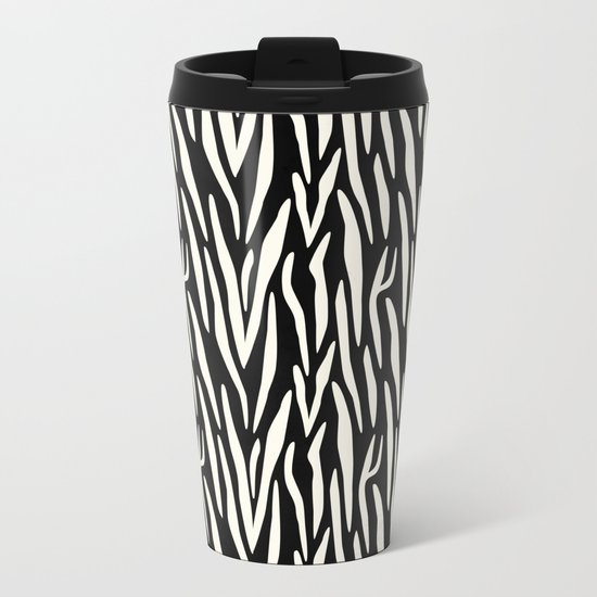 Zebra Print Metal Travel Mug